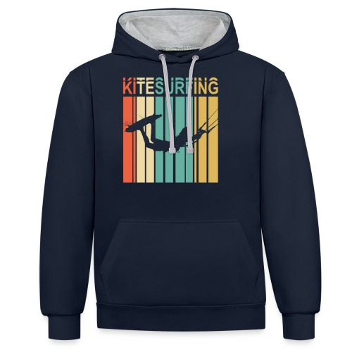 Kitesurfing - Sweat-shirt contraste