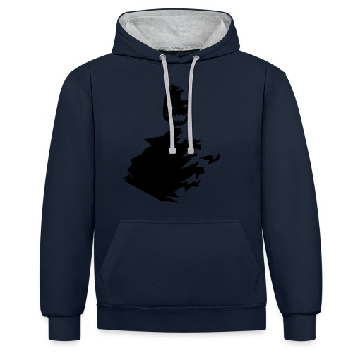 t shirt monster (black/schwarz) - Kontrast-Hoodie