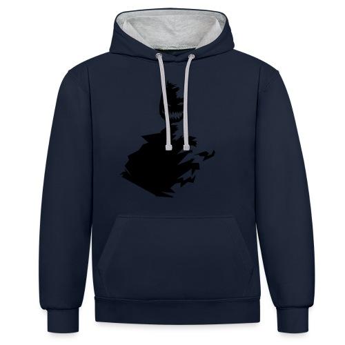 t shirt monster (black/schwarz) - Kontrast-Hoodie