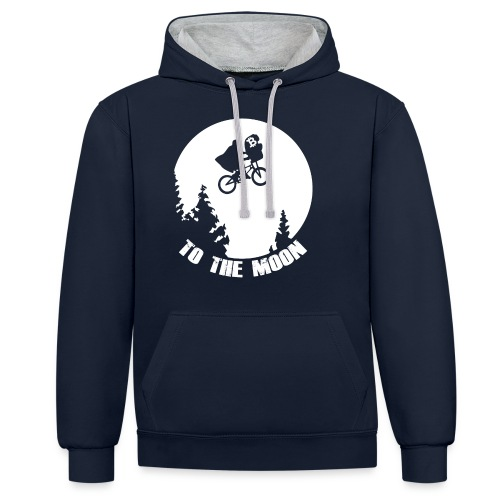 to the moon,bitcoin - Contrast hoodie