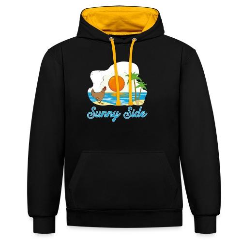 Sunny side - Felpa con cappuccio bicromatica