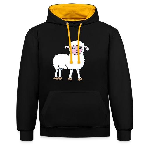 Minos le petit agneau - Sweat-shirt contraste