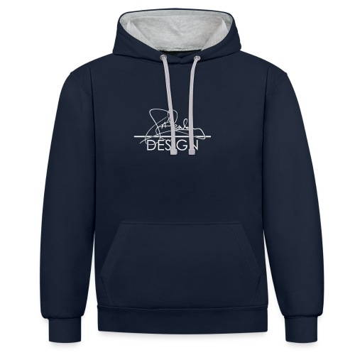 sasealey design logo wht png - Contrast Colour Hoodie