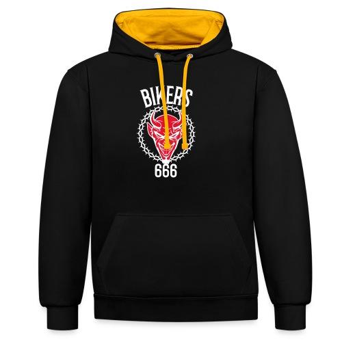 666 bikers - Sweat-shirt contraste