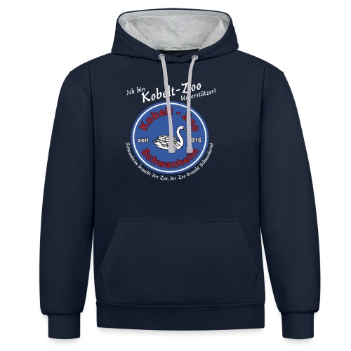 Highlanders Kobelt-Zoo Benefiz Shirt - Schwan - Kontrast-Hoodie