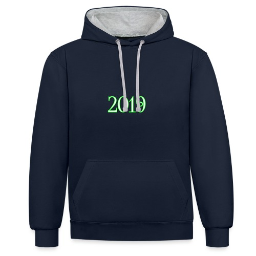 2019 - Contrast Colour Hoodie