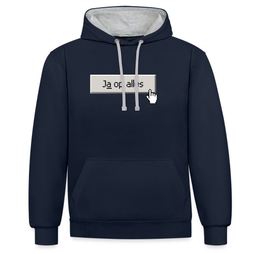 Ja Op Alles - Contrast hoodie