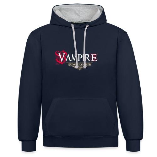 Vampire - Felpa con cappuccio bicromatica