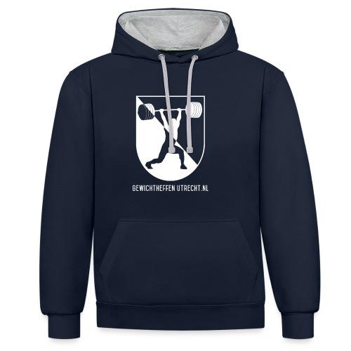 Gewichtheffen Utrecht Logo Trui - Contrast hoodie