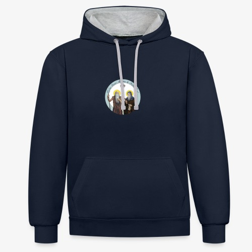 logo de l'eglise - Sweat-shirt contraste