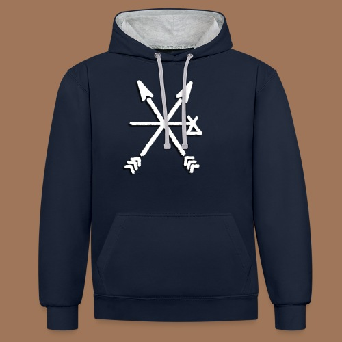 Pathfinder Logo - Contrast Colour Hoodie