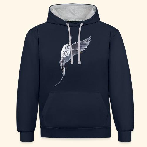 Weißschwanz Tropenvogel - Kontrast-Hoodie
