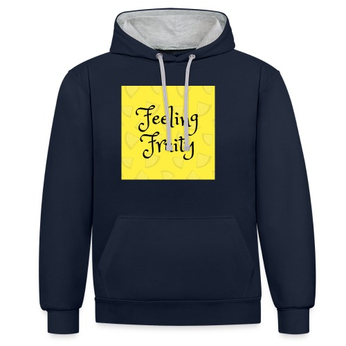 FeelingFruity tops - Contrast Colour Hoodie