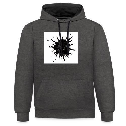 Blacktuber Splash Logo - Contrast hoodie
