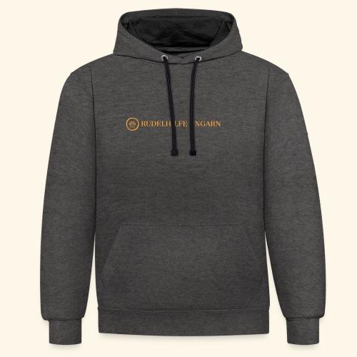Rudelhilfe Logo - Kontrast-Hoodie