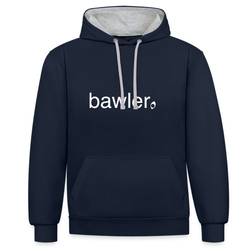 bawler - Kontrast-Hoodie
