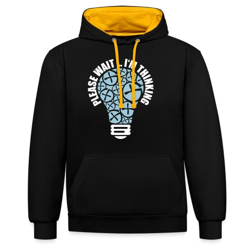 PLEASE WAIT ... I'M THINKING - Kontrast-Hoodie