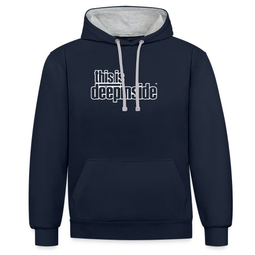 This is DEEPINSIDE logo white - Contrast Colour Hoodie