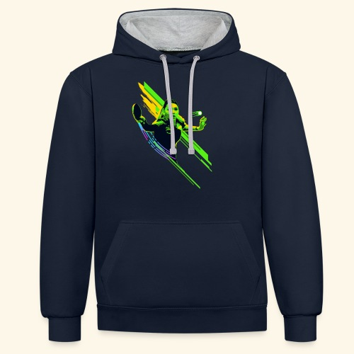 Eyes on the ball and focus playing the game - Kontrast-Hoodie