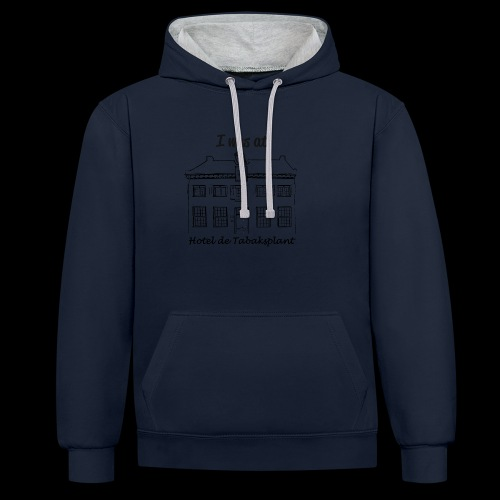 I was at Hotel de Tabaksplant BLACK - Contrast Colour Hoodie