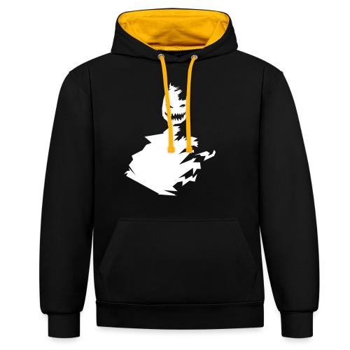 t-shirt monster (white/weiß) - Kontrast-Hoodie