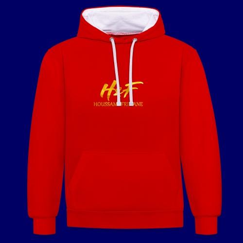 h f gold2 - Felpa con cappuccio bicromatica