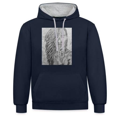 Jyrks_kunstdesign - Kontrast-hættetrøje