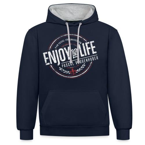 Enjoy this Life® & Fleur de Lys Pascal Voggenhuber - Kontrast-Hoodie