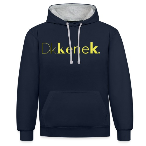 dikkenek - Sweat-shirt contraste