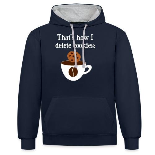 Cookies Kaffee Nerd Geek - Kontrast-Hoodie