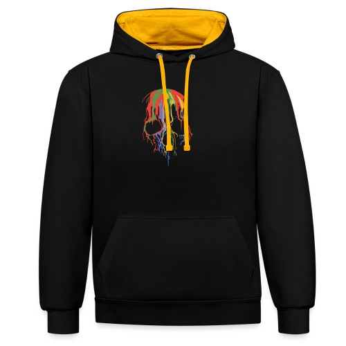 Skull and Colours - Sudadera con capucha en contraste