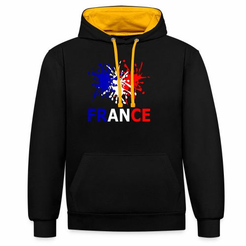 France - red white blue - Contrast Colour Hoodie