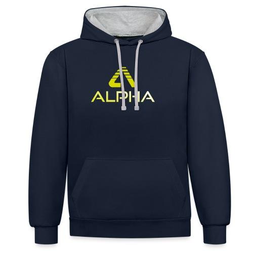 alpha trans png - Kontrast-Hoodie