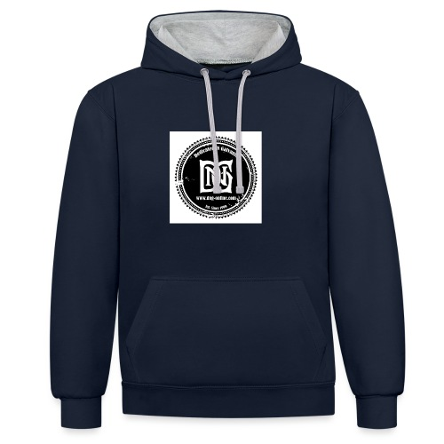 DNG SEAL BLACK - Contrast Colour Hoodie