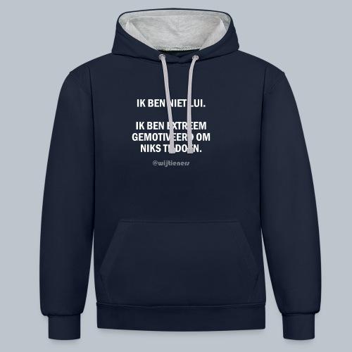SHIRT 1 ~ Instagram @wijtieners - Contrast hoodie