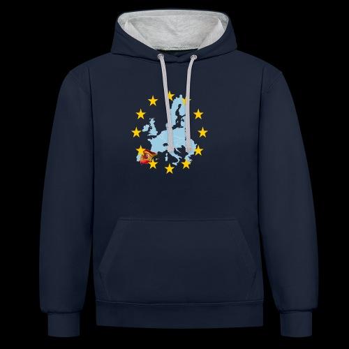 EU Spain (Europa Spanien) - Kontrast-Hoodie