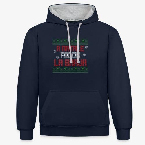 Il regalo di Natale perfetto - Felpa con cappuccio bicromatica