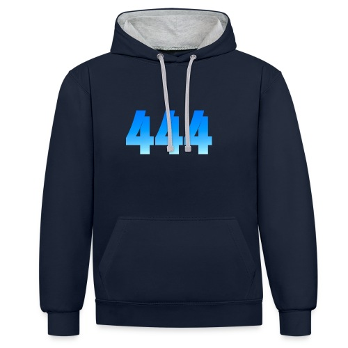 444 annonce que des Anges vous entourent. - Sweat-shirt contraste