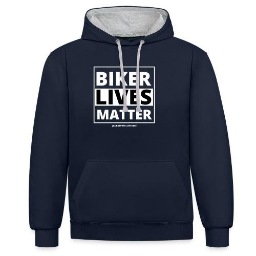 Biker lives matter - Fahrverbote Motorrad - Kontrast-Hoodie