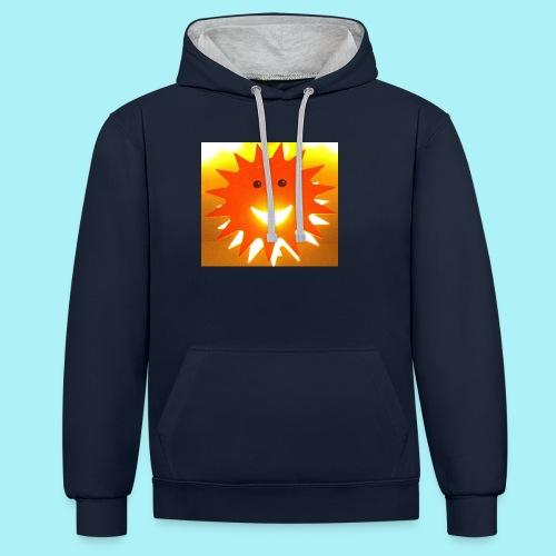Soleil Souriant - Sweat-shirt contraste