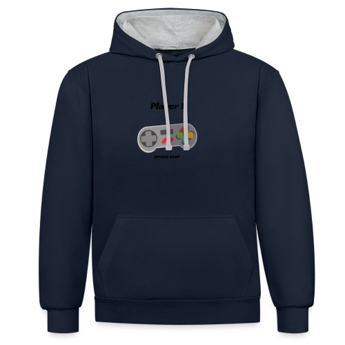 Player 1 - Contrast Colour Hoodie