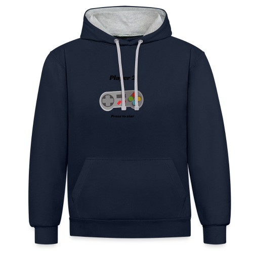 player two - Contrast Colour Hoodie