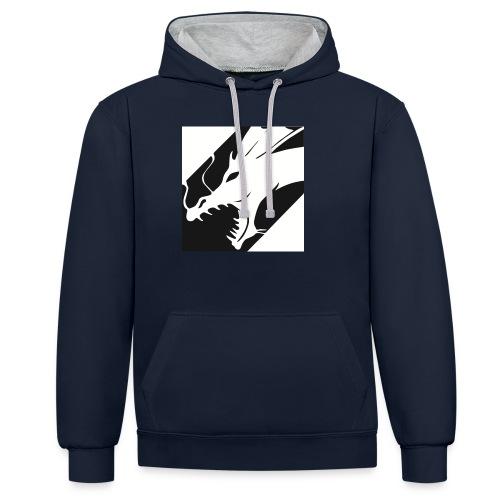 Dragon White Mok - Contrast hoodie