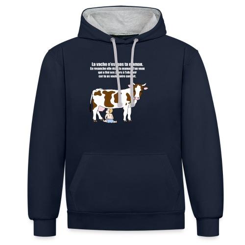 Vache à lait - Sweat-shirt contraste