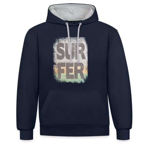 Surfer - Sudadera con capucha en contraste
