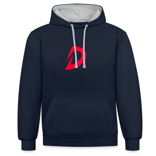 Destra Logo by Atelier render red - Contrast hoodie