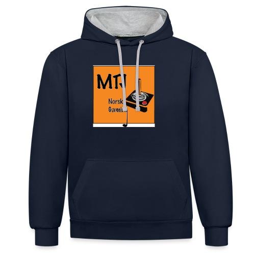 Mtj Logo - Kontrast-hettegenser