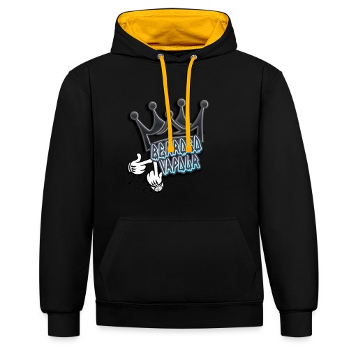 all hands on deck - Contrast Colour Hoodie