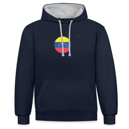 orgullo venezolano - Sudadera con capucha en contraste