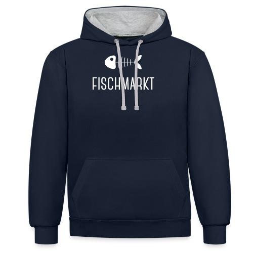 fischmarkt - Kontrast-Hoodie